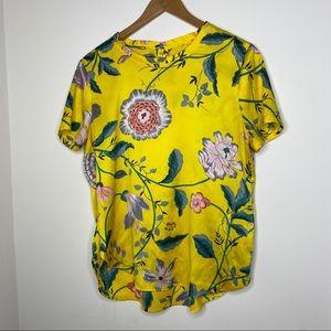 💕Loft Yellow Floral Blouse S